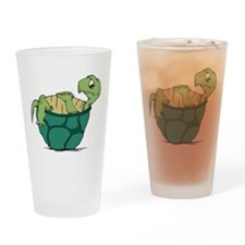 Upside Down Turtle Pint Glass