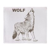 Vintage Wolf Throw Blanket