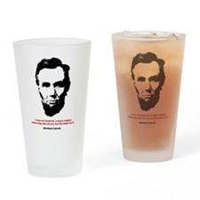 Abraham Lincoln Quote Pint Glass