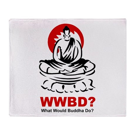 What Would Buddha Do? Stadium Blanket