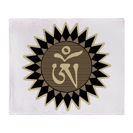 Tibetan Om Throw Blanket