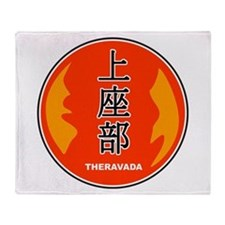 Theravada In Chinese Throw Blanket