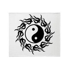 Tribal Yin Yang Throw Blanket