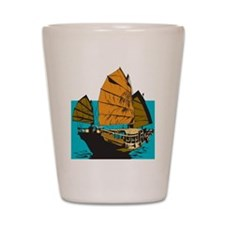 Chinese Junk Shot Glass