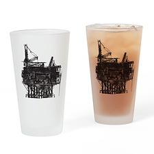 Vintage Oil Rig Pint Glass