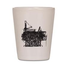 Vintage Oil Rig Shot Glass