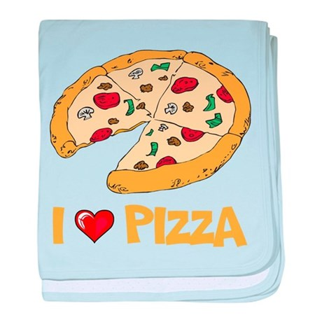 I Love Pizza baby blanket