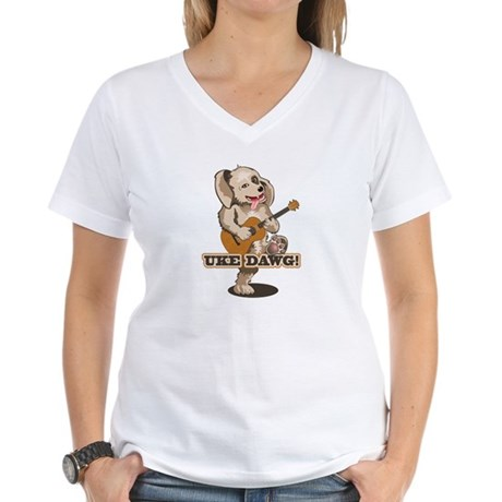 Uke Dawg! Women's V-Neck T-Shirt