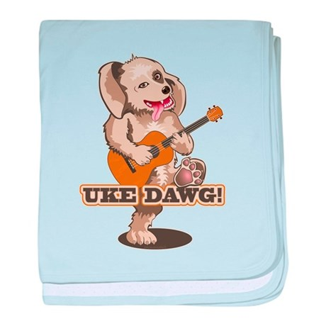 Uke Dawg! baby blanket