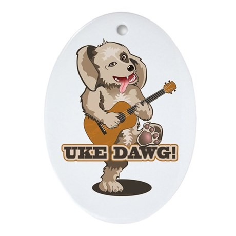 Uke Dawg! Ornament (Oval)