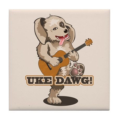 Uke Dawg! Tile Coaster