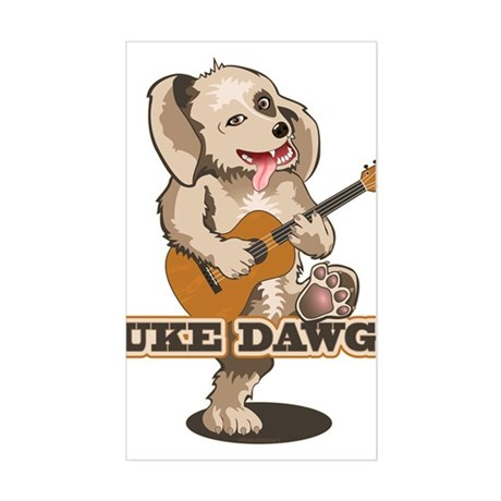 Uke Dawg! Sticker (Rectangle)
