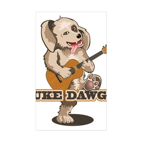 Uke Dawg! Sticker (Rectangle 50 pk)