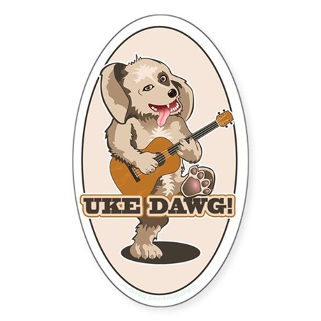 Uke Dawg! Sticker (Oval)