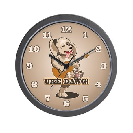 Uke Dawg! Wall Clock