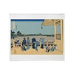 Hokusai Sazai Hall Throw Blanket