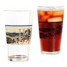 Hokusai Senju Musashi Province Drinking Glass