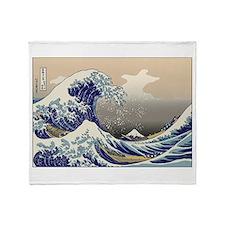 Hokusai The Great Wave Throw Blanket