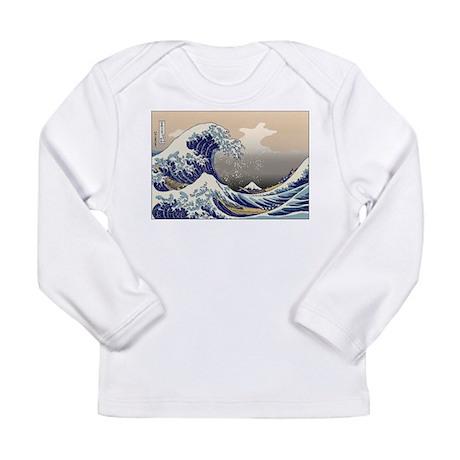 Hokusai The Great Wave Long Sleeve Infant T-Shirt