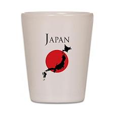 Map Of Japan Shot Glass