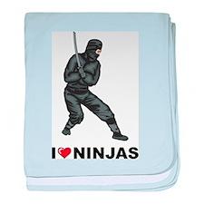 I Love Ninjas baby blanket