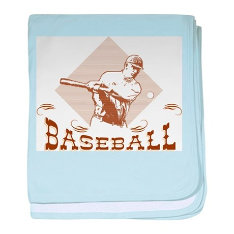 Retro Baseball baby blanket