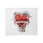 Heart Samurai Throw Blanket