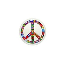 Peace Sign Made of Flags Mini Button (100 pack)