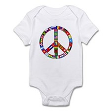 Peace Sign Made of Flags Infant Creeper