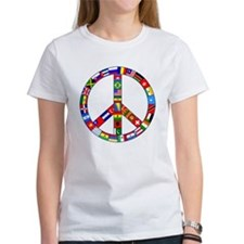 Peace Sign Made of Flags Tee
