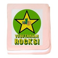 Vegetarian Rocks baby blanket
