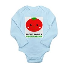 Proud To Be A Vegetarian Long Sleeve Infant Bodysu