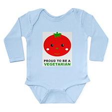 Proud To Be A Vegetarian Onesie Romper Suit