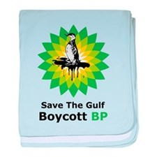 Save The Gulf Boycott BP baby blanket