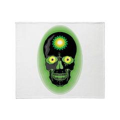 BP Skull Throw Blanket
