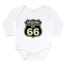 Arizona Route 66 Long Sleeve Infant Bodysuit