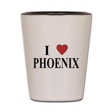 I Love Phoenix Shot Glass