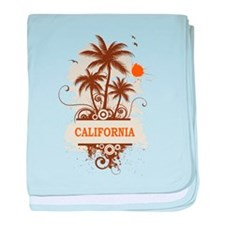 Palm Tree California baby blanket