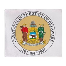 Delaware State Seal Throw Blanket