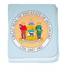 Delaware State Seal baby blanket