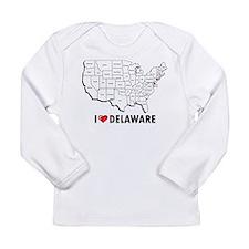 I Love Delaware Long Sleeve Infant T-Shirt