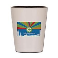 Columbus Flag Shot Glass