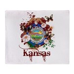 Butterfly Kansas Throw Blanket