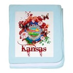 Butterfly Kansas baby blanket