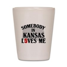 Somebody In Kansas Shot Glass