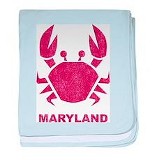 Crab Maryland baby blanket