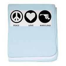 Peace Love Maryland baby blanket