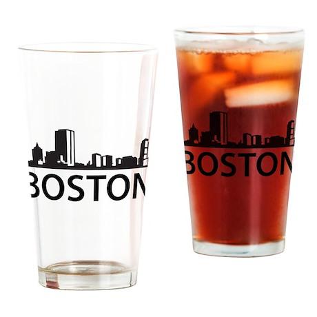 Boston Skyline Pint Glass