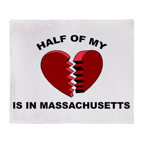 Heart In Massachusetts Throw Blanket
