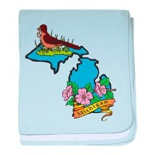 Michigan baby blanket